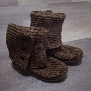 UGG Classic Cardy Knit Boots Size 6